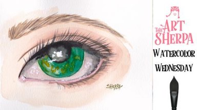 Watercolor Realistic Eye
