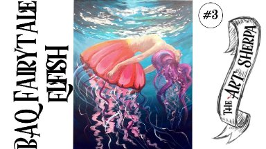 BAQ Elfish acrylic painting tutorial for  step by step part 3