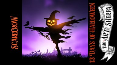 Easy Scarecrow  Acrylic painting  beginner step by step #13 Days of Halloween