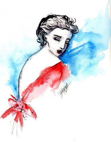 how to watercolor 3 fashion girls