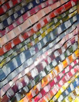 Weaving paint