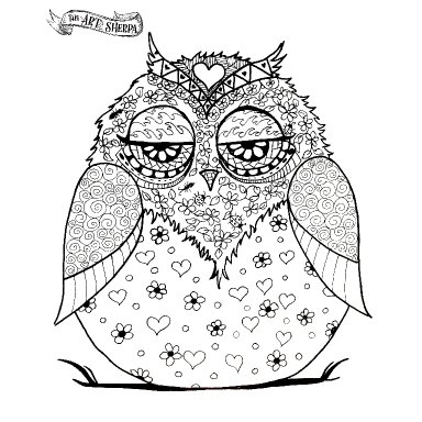 Sept Little Brush coloring page