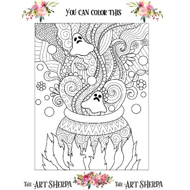 October Adult Coloring page