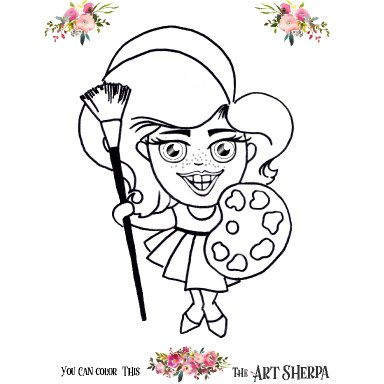 Sherpa girl Coloring Page