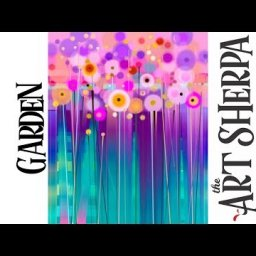 Easy floral Abstract step by step with Acrylic on Canvas The Art Sherpa