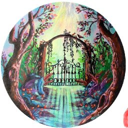 How to paint a Magic Forest Fairy Gate Acrylic tutorial