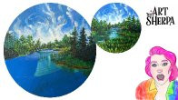 Patron The Green World Part 3 background Trees water | TheArtSherpa
