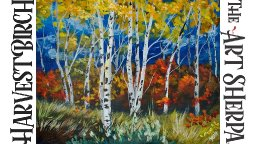How to paint with Acrylic Harvest Birch Trees