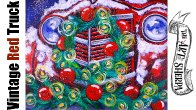 Old Red Truck Christmas Wreath Acrylic Painting Tutorial Live Stream
