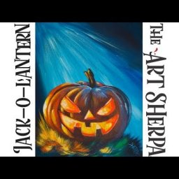 How to paint Acrylic on canvas Spooky pumpkin LIVE  Beginner  art tutorial