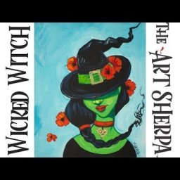 How to paint Acrylic on canvas The Wicked Witch a Beginner tutorial LIVE