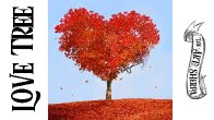 Heart shaped Love Tree Step by step Acrylic Painting tutorial | TheArtSherpa