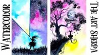 Watercolor Wednesday Two Fantasy Landscapes