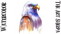 Easy Eagle  How to Paint Watercolor Step by step | The Art Sherpa