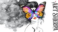 EASY GIRL BUTTERFLY MASK SURREAL beginners Learn to paint Acrylic Tutorial Step by Step