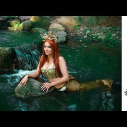 Fresh water Mermaid  acrylic tutorial Fantasy painting Fairytale #4