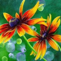 EASY Daisy floral Beginners Learn to paint Acrylic Tutorial Step by Step /Premiere