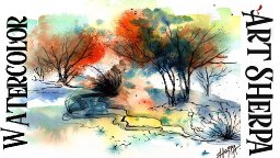 Easy ABSTRACT  How to Paint Watercolor Step by step | The Art Sherpa