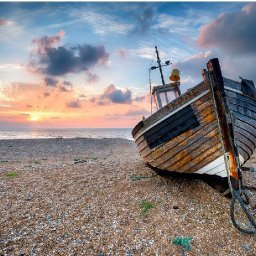 Old Boat on the beach Easy How to Paint Watercolor Step by step | The Art Sherpa