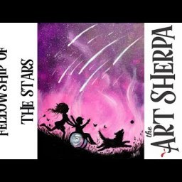 Starry night Galaxy Silhouette of a Kids at play wheelchair positive Art #playlive #derpsquad