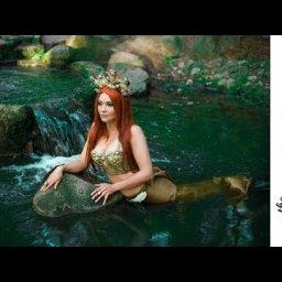 Fresh water Mermaid  acrylic tutorial Fantasy painting Fairytale #3