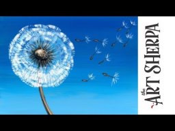 How to paint with Acrylic on Canvas Dandelion Breeze LIVE stream