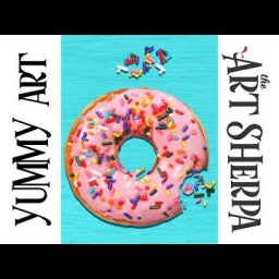 How to paint with Acrylic on Canvas A Yummy Donut with sprinkles