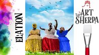 How to paint with Acrylic on Canvas Three Sisters Dancing in Joy