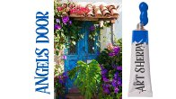 How to paint with Acrylic on Canvas Angels Garden door