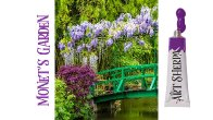 How to paint with Acrylic on Canvas Monet's Garden
