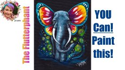 Butterfly Elephant Easy Painting in acrylic Step by step Live stream