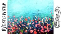 Easy Wildflower Abstract if you think you cant use a Palette Knife