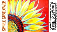 Easy Sunflower Acrylic painting tutorial step by step Live Streaming
