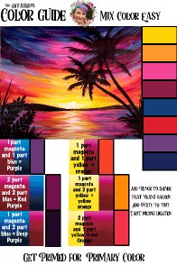 Sunset paradise Color mixing file