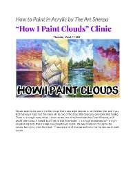 How I paint clouds my Tips and techniques mini guide