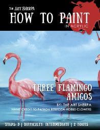 3 flamingos mini book step by step