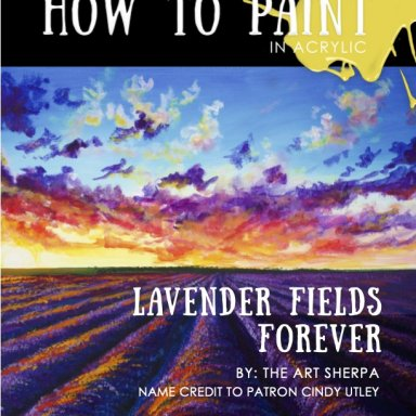 lavender Fields with sunset