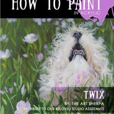 Twix BAQ 2021 fluffy dog in flowers