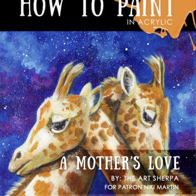 Love  Giraffe and Stars