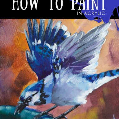 BJ And The Bath - Bluejay - September Bird-A-Thon Collaborative with Ginger Cook