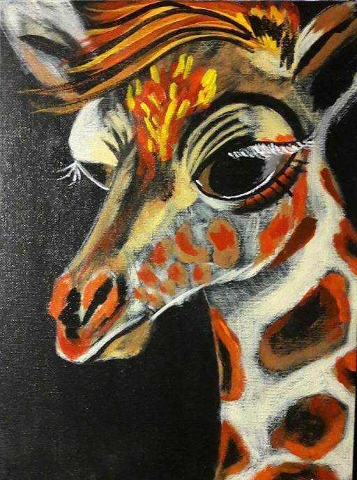 Baby Giraffe Gallery Rachel Miller The Art Sherpa