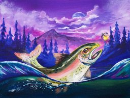 Mountain Lake Lanscape Acrylic Painting Tutorial For