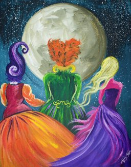 How To Paint With Acrylic On Canvas Hocus Pocus Witch