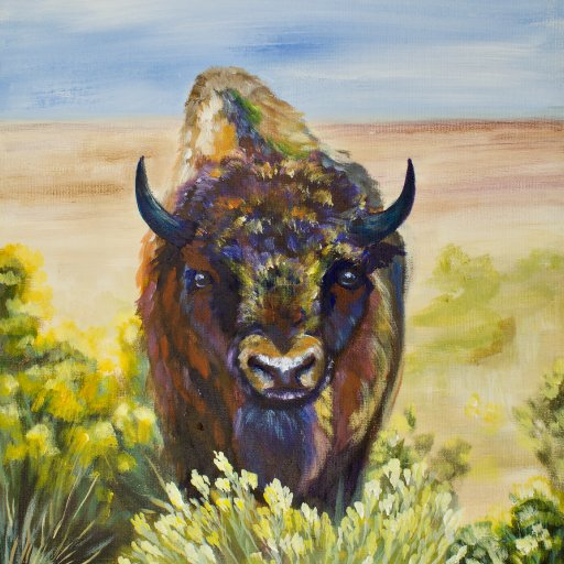 How to paint  an American Bison   Acrylic on Canvas for beginning artists With the Art sherpa