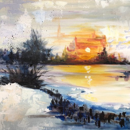 Abstract Acrylic Painting Tutorial for Beginners Landscape Icebound The Art Sherpa