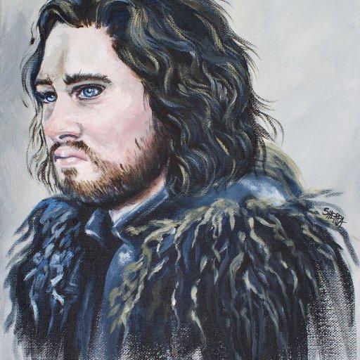 John Snow Acrylic Painting tutorial by the Art Sherpa