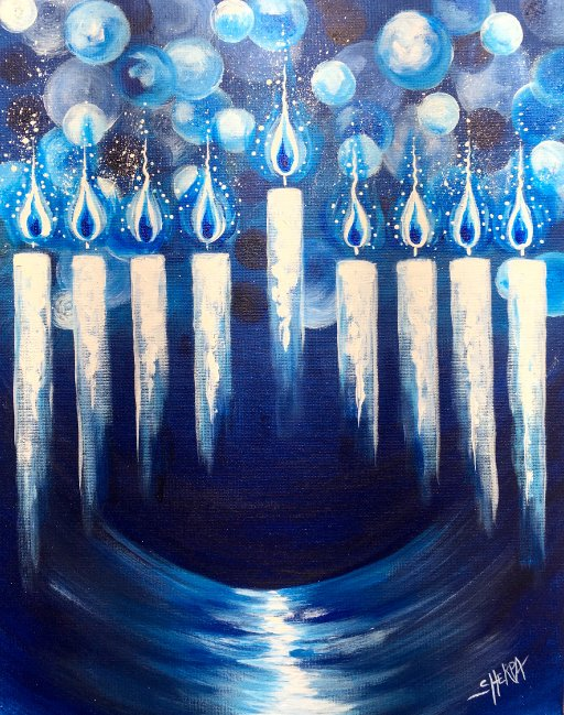 Hanukkah Menorah Step By Step The Art Sherpa Gallery
