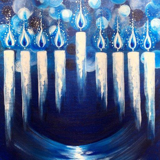 Hanukkah Menorah Step by Step The Art Sherpa