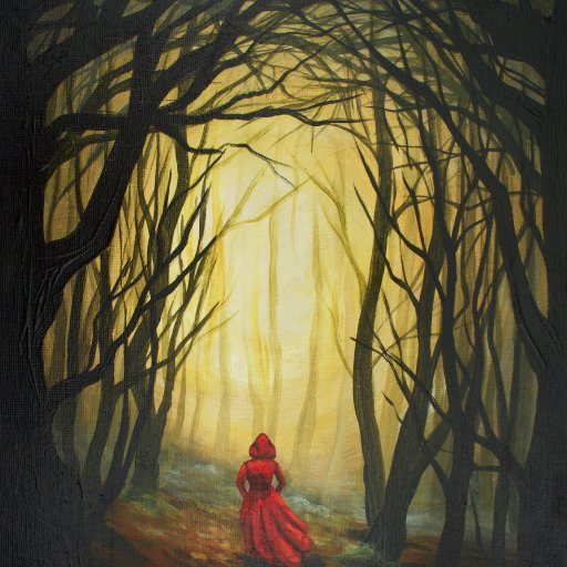 Red Riding Hood into the Dark Woods Acrylic  Painting Tutorial  the Art sherpa
