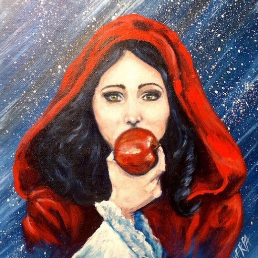 Snow white eating an Apple Acrylic Painting The  Art Sherpa